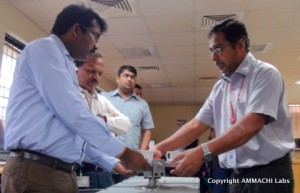 Members from L&T visit AMMACHI Labs to explore training solutions for their skill training centers.