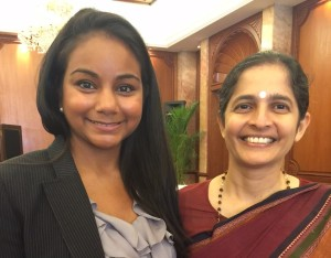 Prof. Bhavani with Tulsi Byrne from the UN Global Compact