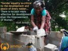 """""""Universal access to sanitation has a clear role to play in defending women's safety, dignity and equality""""."""