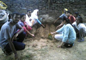 Amrita University students at Kanti village, Haryana.