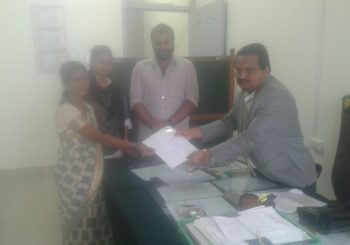 Jyothi our Community Organizer in Byse village Karnataka, submitted her application to become a PLV