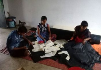 In Juna Kathiwada, Madhya Pradesh, our trained students are making cloth bags