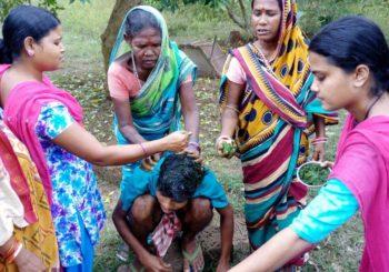 women are experimenting with neemat AMMACHI Labs' training center at Guptapada village