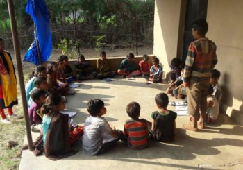In Juan Kaathiwada village, kids are learning yoga lessons from AMMACHI Labs' community organiser