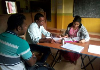 AMMACHI Labs' community organizers Surekha and Renu arranged a medical health camp