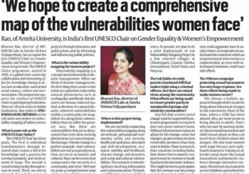 Check out Prof. Bhavani's insights as India's UNESCO Chair in Gender Equality and Women's Empowerment that appeared in the Indian Express