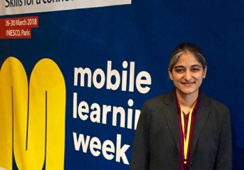 AMMACHI Labs at UNESCO's  Mobile Learning Week  in Paris, France.