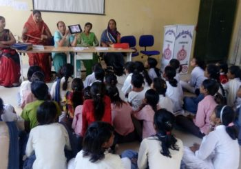 AMMACHI Labs' deployment team organized an awareness class on 'health challenges faced by girls'