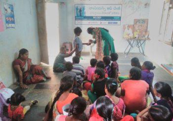 Community organizer Anuradha from Gudipaticheruvu village, Andhra Pradesh conducted Life Enrichment Education programs