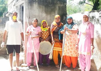 Our team at the primary health center in Kanti village #Haryana as part of the #SwachchathaHiSeva movement.