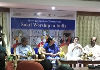 Prof. Rao R. Bhavani delivered the felicitation address for the 3 day National Seminar on 'Śakti Worship in India'