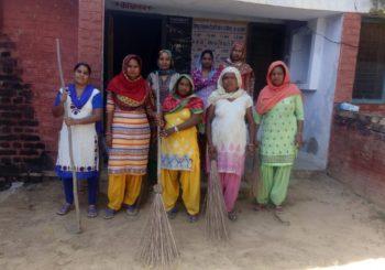 Amala Bharatham clean-up drive in Kanti village, Haryana.