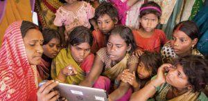 Children using Tech
