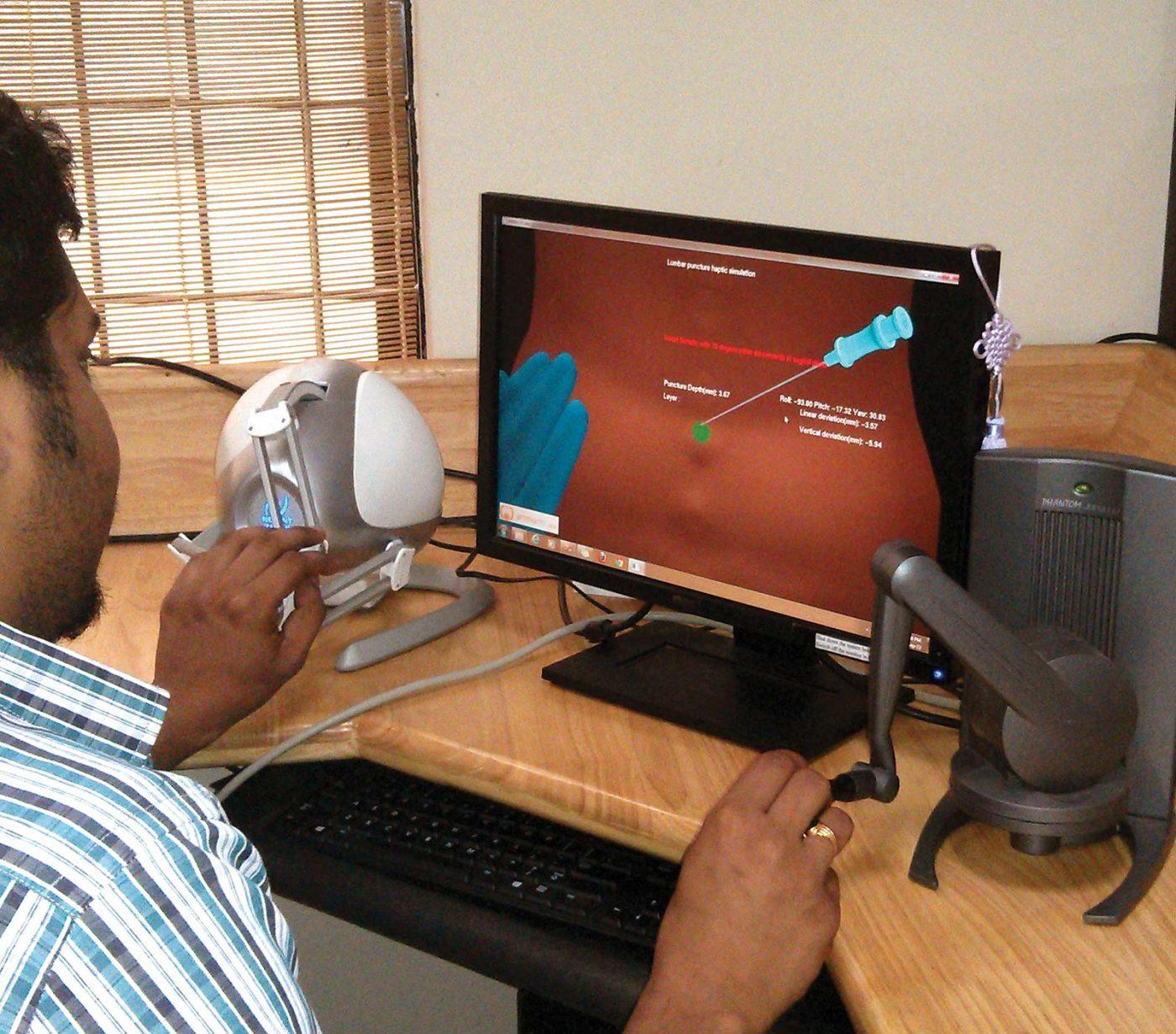 Lumbar Simulator in action