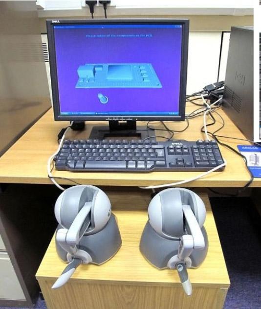 soldering simulation set up
