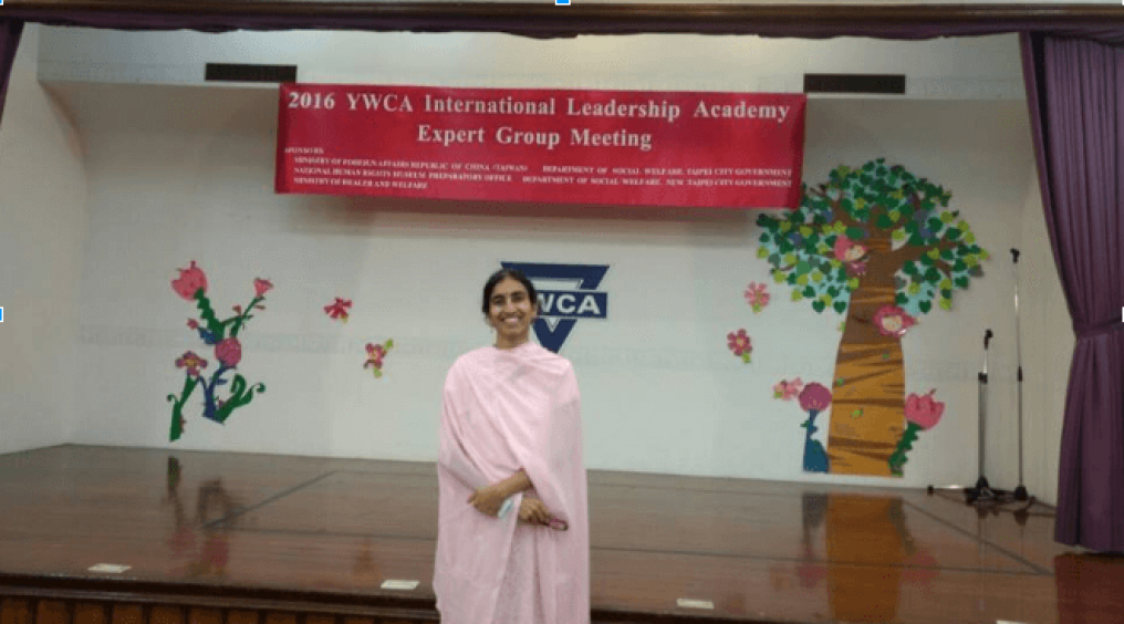 Gayathri M at the YWCA Taiwan