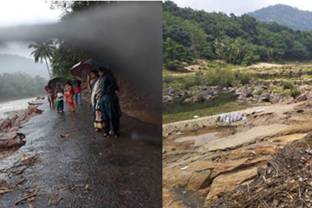 before and after floods