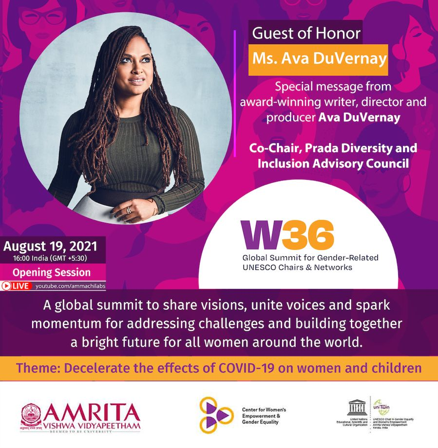 Special guest Ava Duvernay